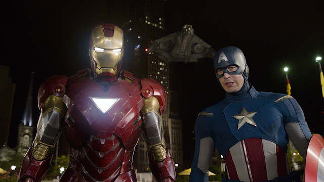 Iron Man und Captain America als Gefährten