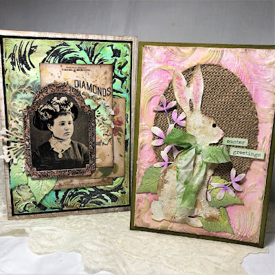 Frilly and Funkie https://frillyandfunkie.blogspot.com/2019/04/saturday-showcase-seth-apters-baked.html Spring Card Tutorial with Tim Holtz 3D Embossing Seth Apter Baked Velvet by Sara Emily Barker 34