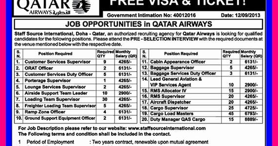 Job Vacancies Qatar