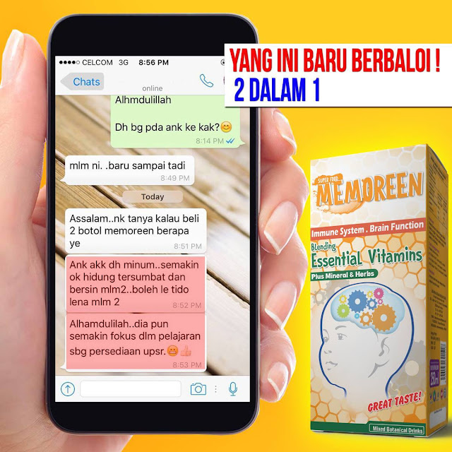 Testimoni Memoreen Plus Juice Pek Baru