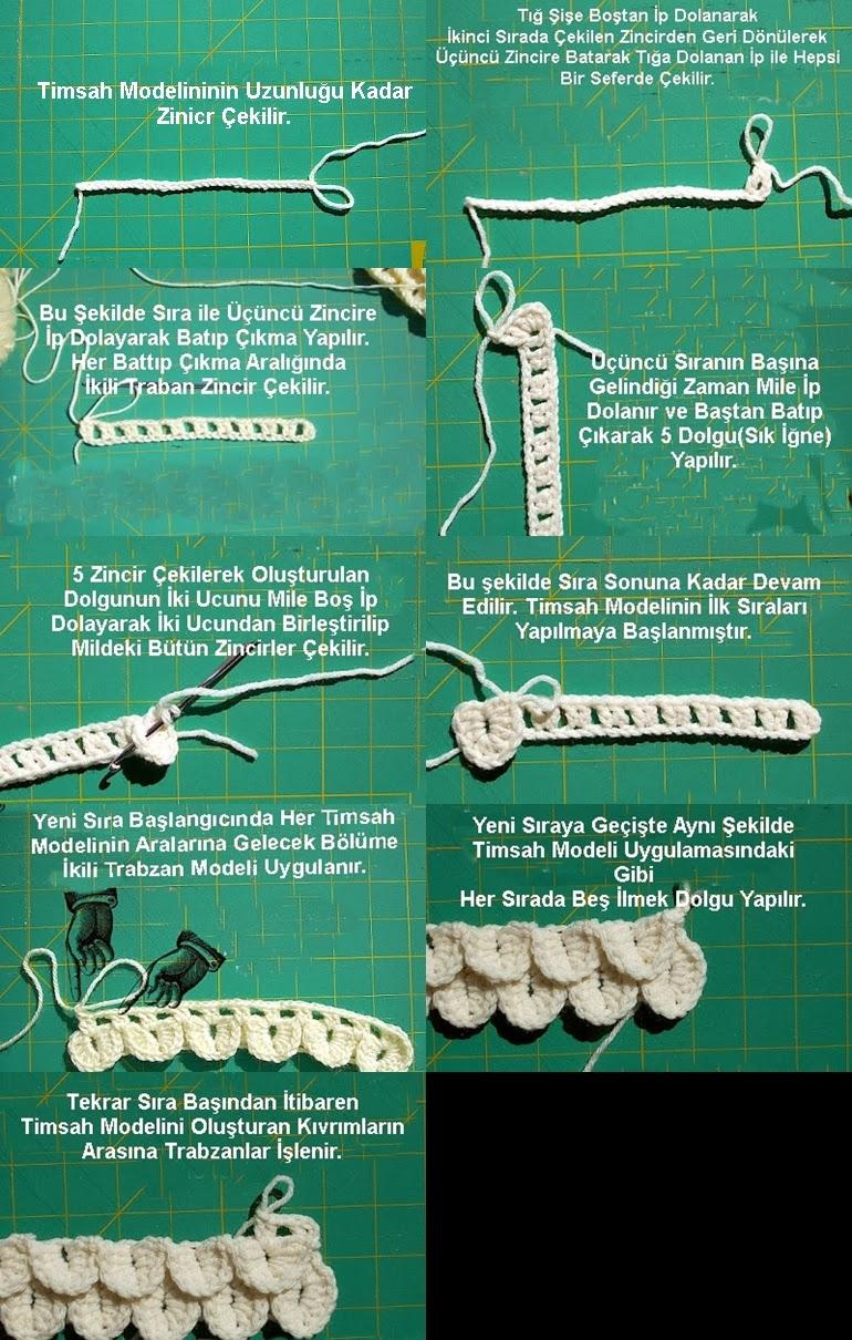 Tığ işi Timsah Modeli Resimli Anlatım