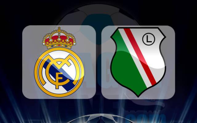 نتيجة مباراة ريال مدريد وليجيا وارسو اليوم بتاريخ 18-10-2016 دوري أبطال أوروبا