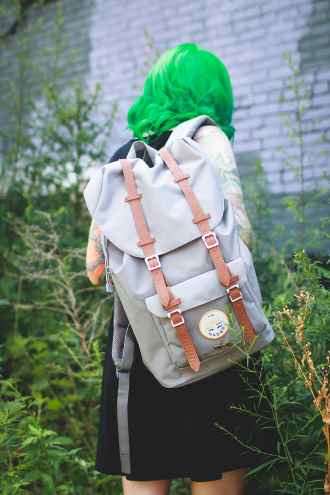 herschel, bag, backpack, what I wore