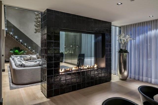 Dise os de salas modernas con chimenea salas con estilo for Disenos de salas