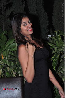 Actress Kavya Kumar Stills in Black Short Dress at F Club pre soft Launch  0010.JPG