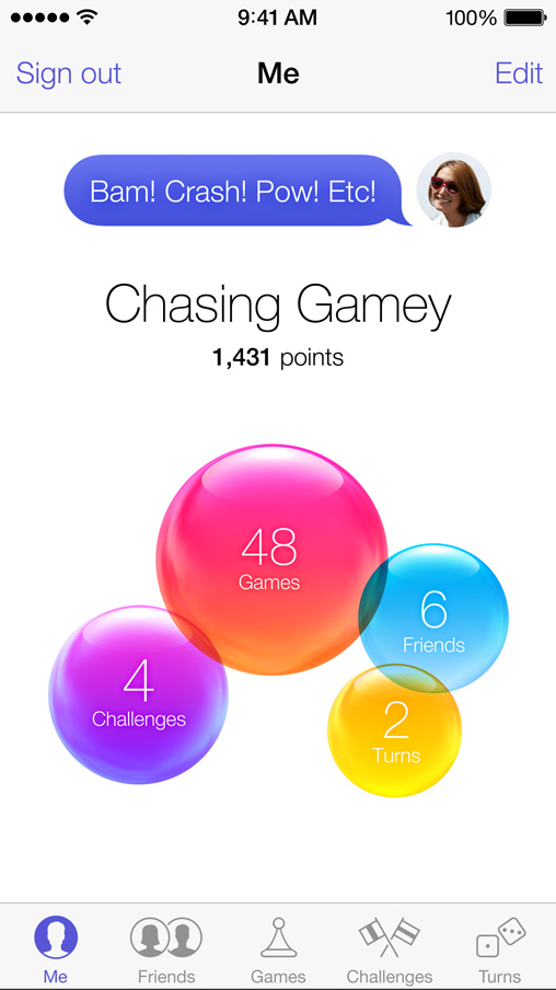 iOS 7 Videos, Game Center