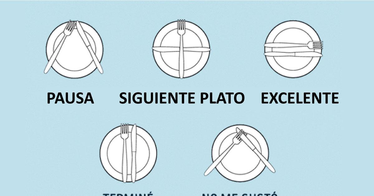 El lenguaje de los cubiertos y como usarlos correctamente for Como se colocan los cubiertos en la mesa
