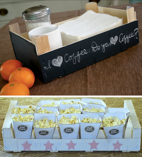 reciclar cajas de fresas bonitas para decoracion de la casa
