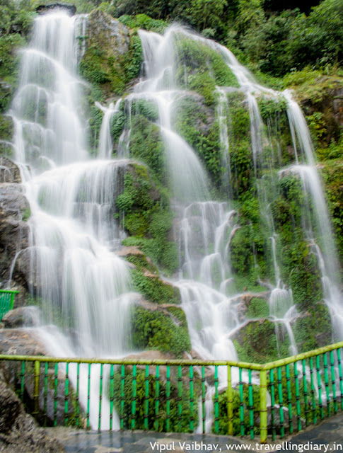 bakthang waterfall during gangtok city tour