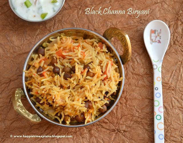 Black Channa Biryani   Kala Channa Biryani