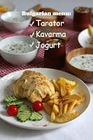 Българско меню: Таратор, Кавърма в омлет и кисело мляко с орехи и мед