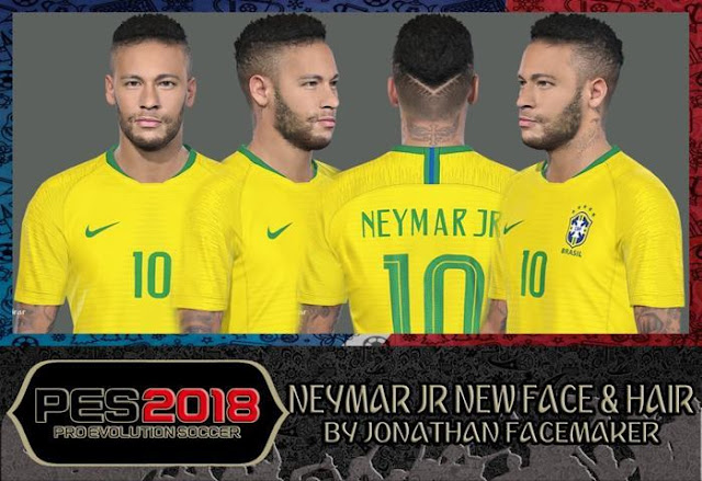 Neymar Jr New Face & Hair PES 2017
