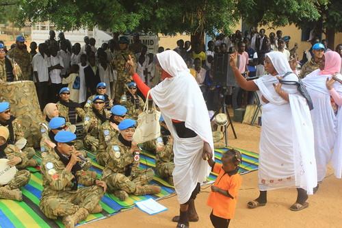 Prajurit TNI Satgas Indobatt-03 Meriahkan Peringatan Hari Nelson Mandela di Sudan
