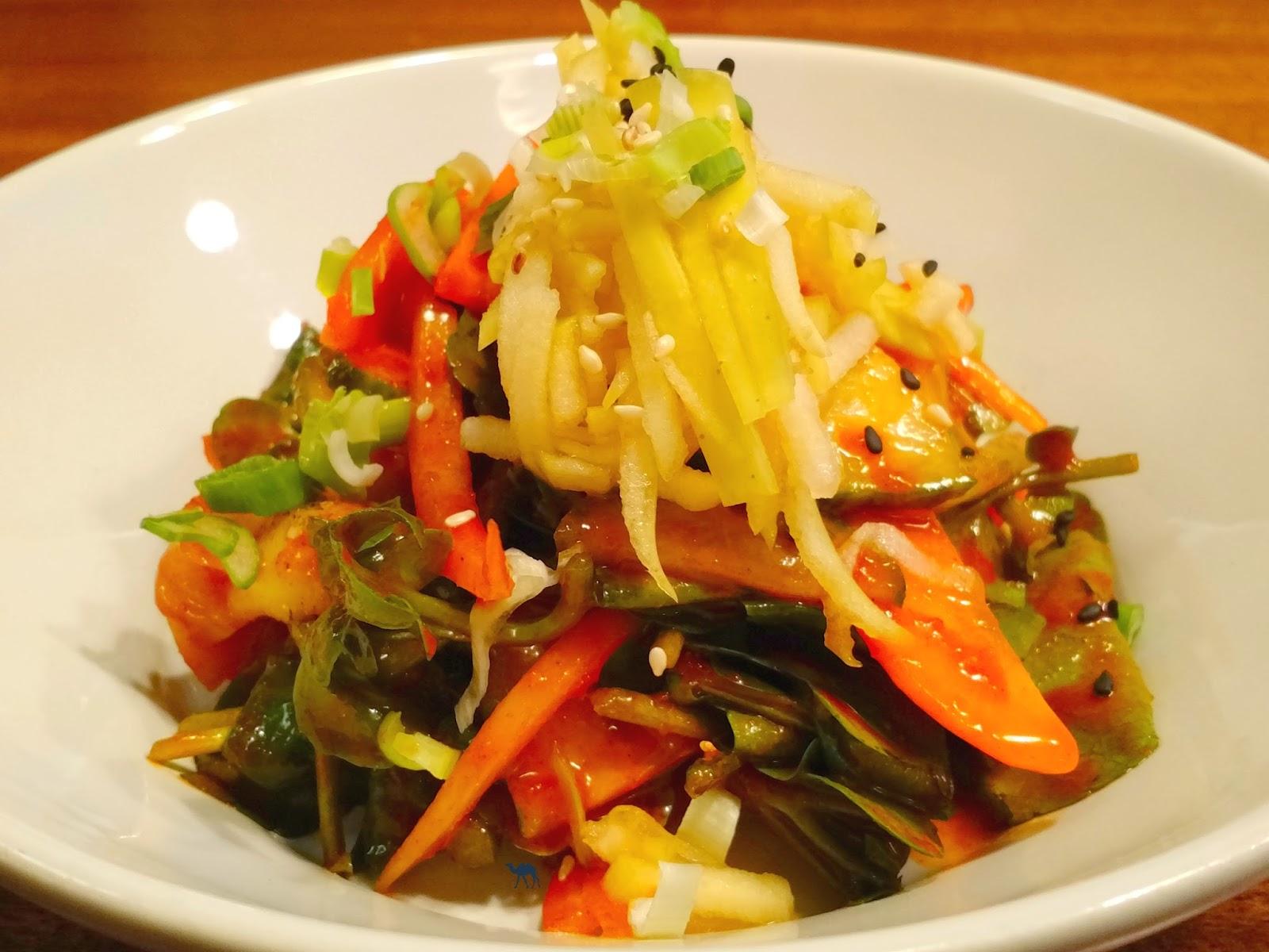 Le Chameau Bleu - Blog Restaurant Coréen Paris - Salade de bulot chez Mee Plat coréen