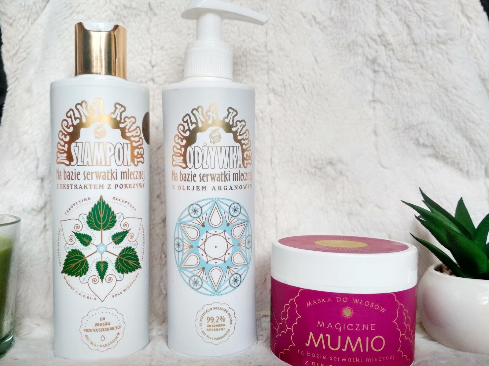 Kosmetyki naturalne NAMI - szampon, odżywka i maska do włosów