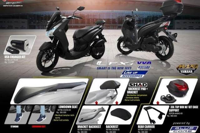 Harga Aksesoris Yamaha Lexi Terbaru