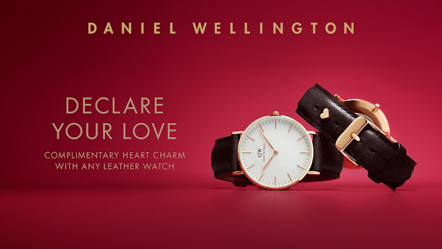 Daniel Wellington DW  Valentines i love u watch gift discount cod