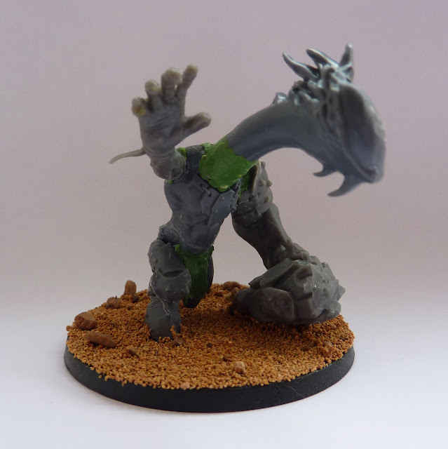 Sculpting and conversion work for Chaos Spawn