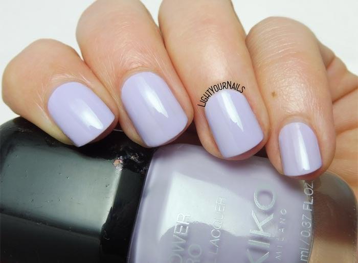 Smalto lilla Kiko Power Pro 106 Lavender Field lilac nail polish #kikonails #kikocosmetics #kikotrendsetter #lightyournails