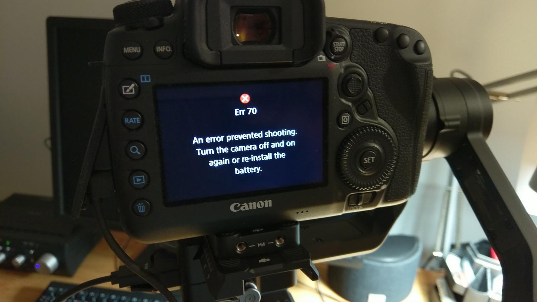 Kamera DSLR Muncul Kode error 70 pada Canon DSLR