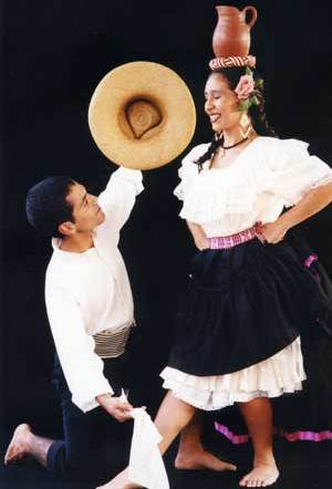 Foto de la vestimenta de Tondero en jóvenes