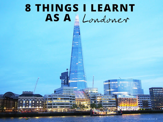 8 Things I Learnt As A Londoner
