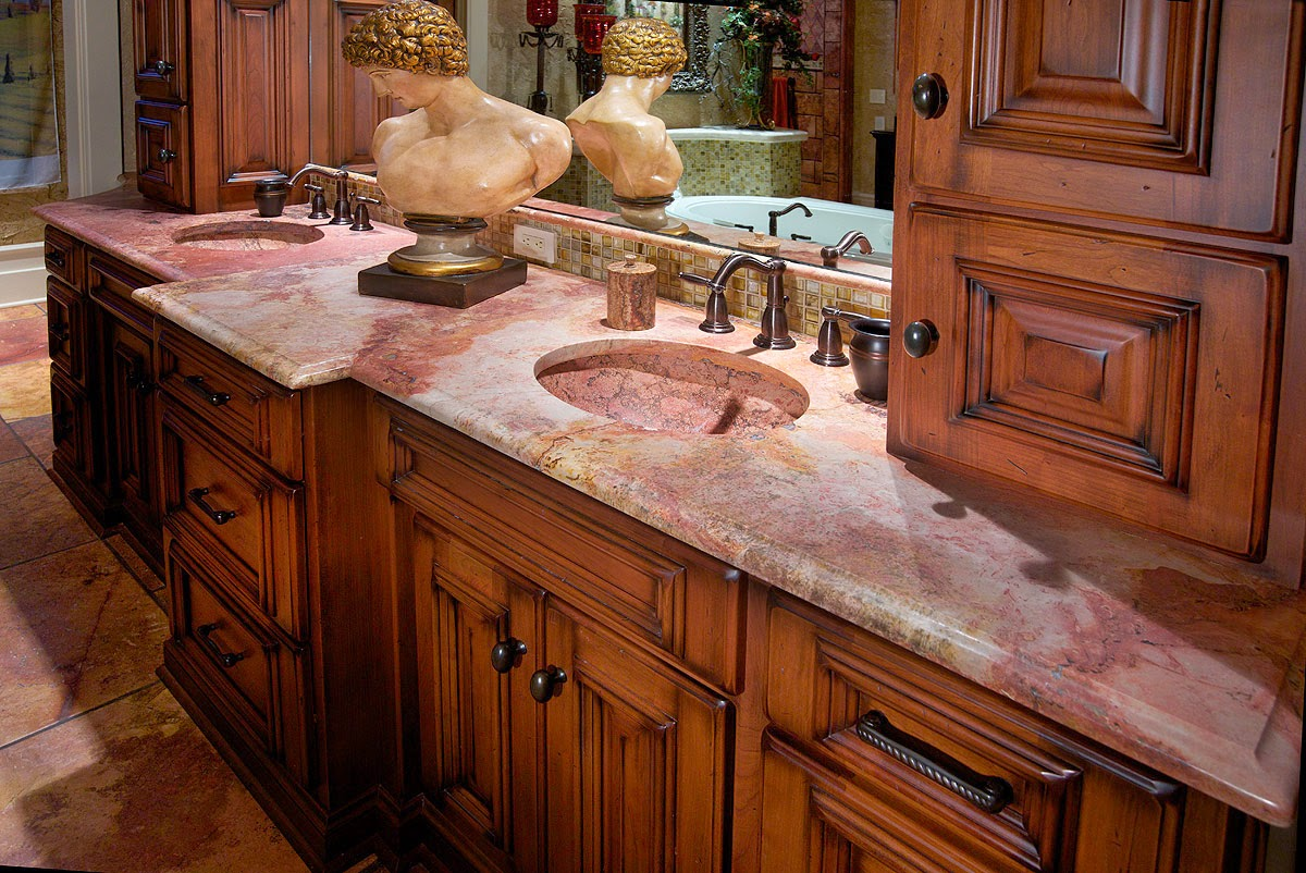 pink countertops kitchen garbage cans for different color marble counter tops interiors blog
