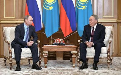 Vladimir Putin, Nursultan Nazarbayev.