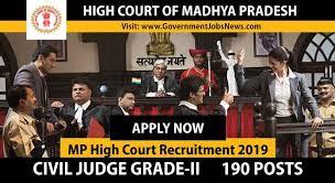 MP High Court Recruitment 2019 Civil Judge Grade-II