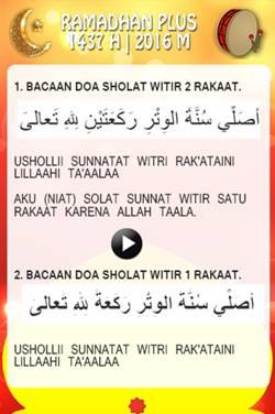 Bacaan Doa Sholat Witir 2 Rakaat dan 1 Rakaat