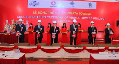 Lễ động thổ Vinata Tower