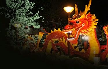 Repressentación de dragón cino