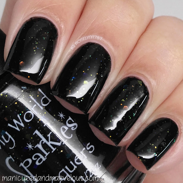 My World Sparkles - Black Opal Swatch