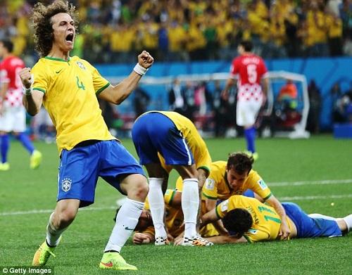 Các cầu thủ khác của Brazil cũng ngậm ngùi trong trận thua đau trước Đức
