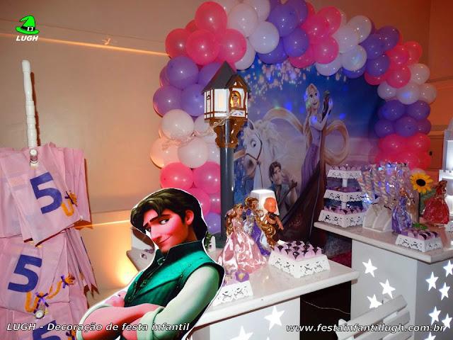 Mesa decorada Os Enrolados - Rapunzel