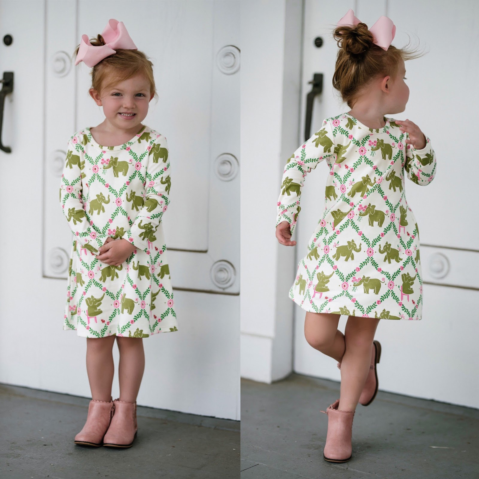 Kid's Style - The Beaufort Bonnet Company Pink & Green Dress - Something Delightful Blog
