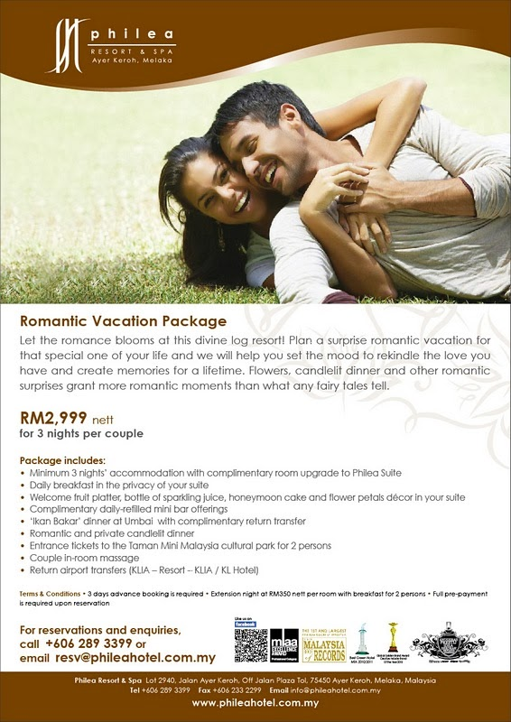 Philea Resort & Spa Melaka's Romantic Vacation Package