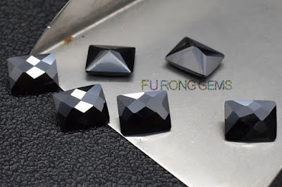 Checkerboard-Cubic-Zirconia-Black-Color-Rectangle-Gemstones-China-Wholesale