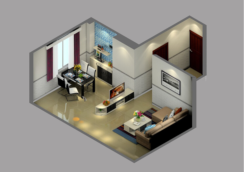 3D-design-house-in-Turin-Italy 35 Sky View 4D American House Plan Styles Interior