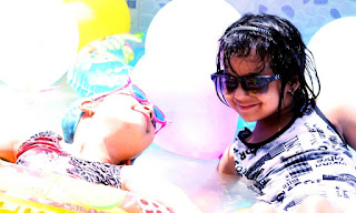 Kids enjoy during Splash Pool Party in Summer Camp at ABC Montessori