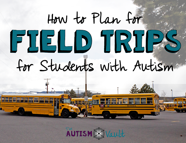 Field trips are a part of most schools.  They're a great way for carry over in to the general setting of skills and concepts learned in the classroom.  Here are some tips for taking our students with autism out on field trips.