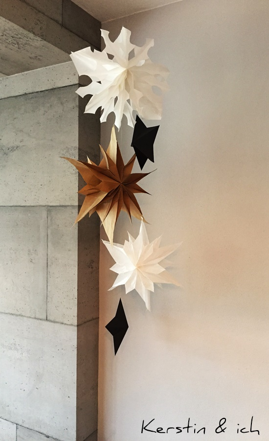 DIY Deko Weihnachten Papier Sterne