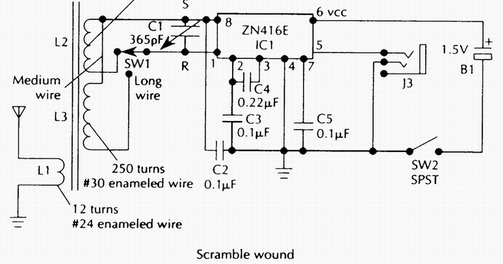 only wiring and diagram: Two Band Radio Schematic