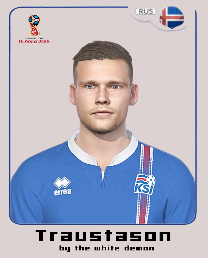PES 2018 Arnor Ingvi Traustason Face By The White Demon (world cup 2018 facepack)