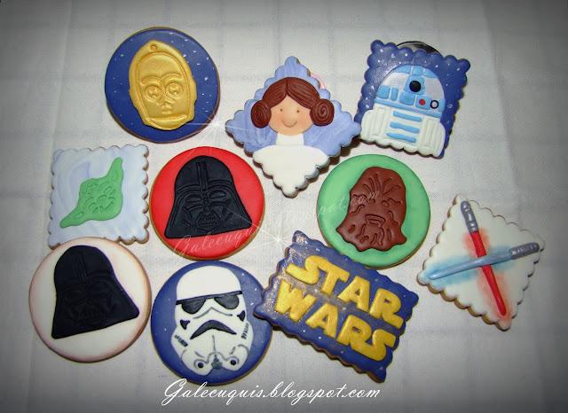 Galletas decoradas fondant Star Wars