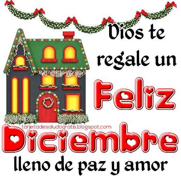 Postal cristiana de Feliz Diciembre