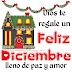 Tarjeta nueva de Feliz Diciembre lleno de paz y amor