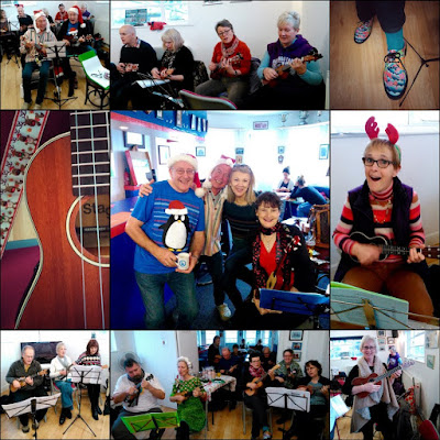 Wukulele Christmas Party, upstairs at Worthing Rowing Club