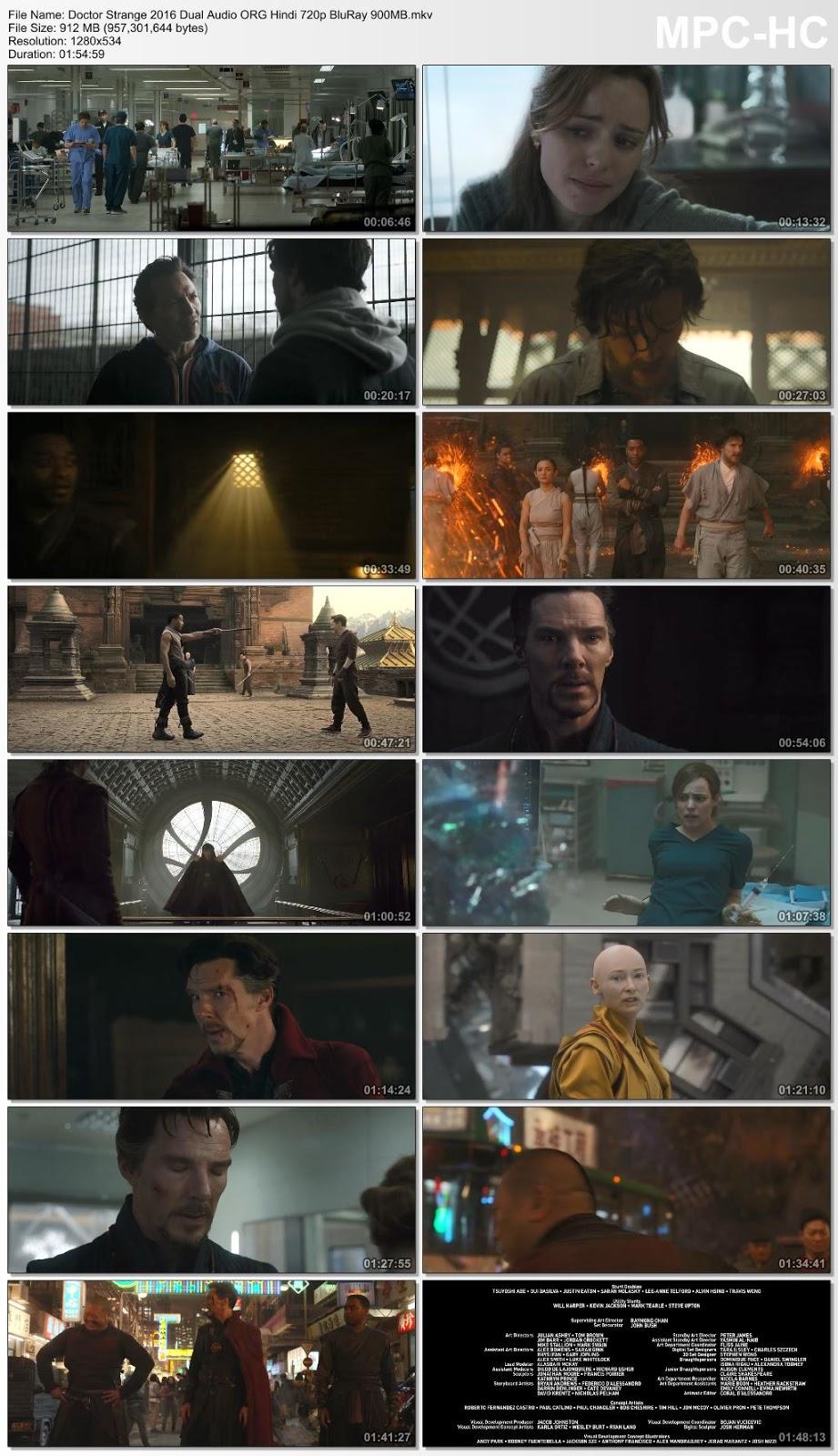 Doctor Strange 2016 Dual Audio ORG Hindi 720p BluRay 900MB Desirehub