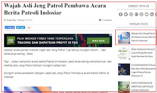 Review Artikel  : WAJAH ASLI JENG PATROL